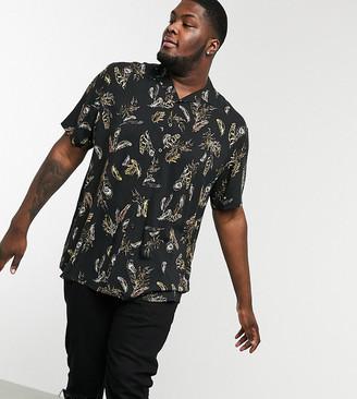 Duke Revere Collar Feather Print Shirt