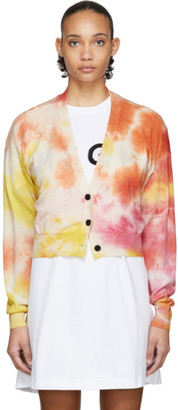 MSGM Multicolor Tie-Dye Cardigan