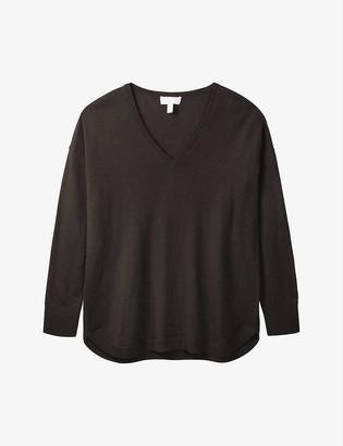 The White Company V-neck merino-wool jumper