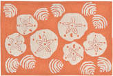 Liora Manné Front Porch Indoor/Outdoor Shell Toss Coral 2' x 3' Area Rug