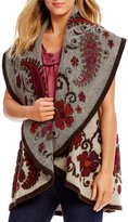 M Made in Italy Embroidered Boiled Wool Vest