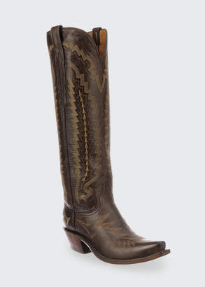 Lucchese Priscilla Suede Western Knee Boots