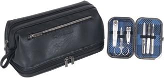 Ben Sherman Drop-Bottom Travel Kit with 6-PieceGrooming Set