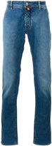 Jacob Cohen contrast brand patch jeans - men - Cotton/Polyester/Spandex/Elastane - 31