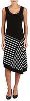 Allison Daley Petites Sleeveless Asymmetrical Flared Dress