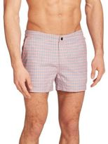 Original Penguin Plaid Swim Trunks
