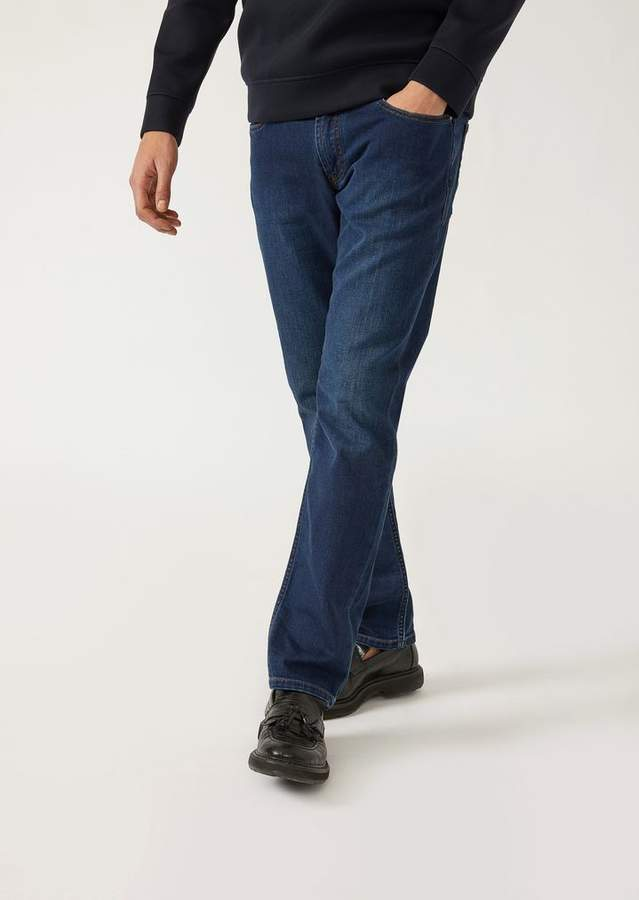 Emporio Armani J15 Comfort Fit Stretch Cotton 10.5 Denim Jeans