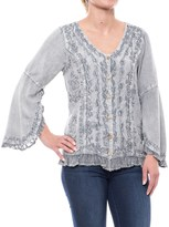 Studio West Embroidered Shirt - Long Sleeve (For Women)