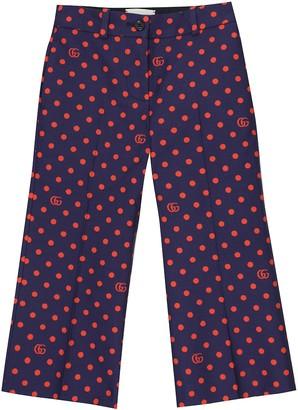 Gucci Kids Polka-dot cotton pants