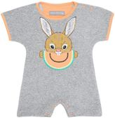 Rabbit Print Cotton Terrycloth Romper