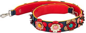 One Kings Lane Vintage Fendi Blue & Red Multi-Flower Bag Strap - Vintage Lux