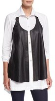 Nola Z Upstage Perforated Leather Vest, Plus Size