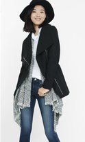 Express Asymmetrical Belted Wool Blend Coat