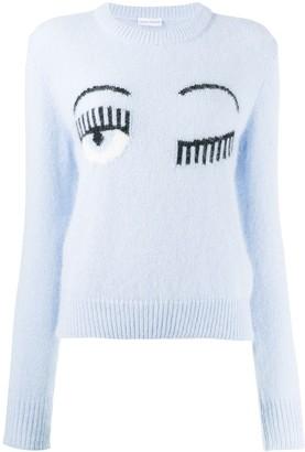 Chiara Ferragni Logo Knit Sweater
