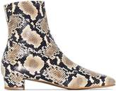 BY FAR Este snake-effect ankle boots