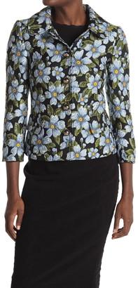 Dolce & Gabbana Floral Print 3/4 Sleeve Jacket