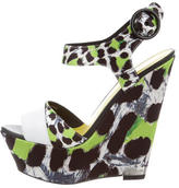 Just Cavalli Animal Print Platform Wedges w/ Tags