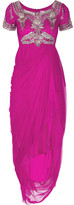 Marchesa Crystal-embellished tulle dress