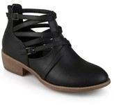 Journee Collection Women's Savvy Strappy Faux Leather Booties
