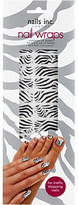 Nails Inc Black and white zebra nail wraps
