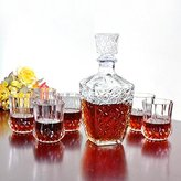 Buckdirect Worldwide Ltd. Whiskey Wine Drinking Glass Decanter Wine Crystal Bottle Carafe