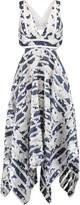 Alexis Keilani open-back jacquard and mesh dress