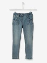 Vertbaudet WIDE Fit - Girls Slim Denim Trousers