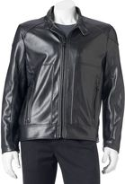 Andrew Marc Men's Faux-Leather Moto Jacket