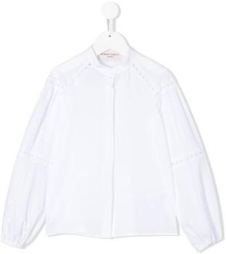 Alberta Ferretti Kids Lace Detail Shirt