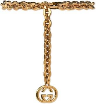 Gucci Chain belt with Interlocking G charm