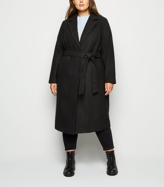 New Look Curves Belted Longline Coat