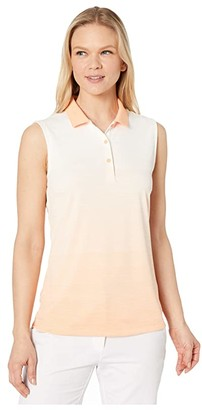 Puma Ombre Sleeveless Polo (Cantaloupe) Women's Clothing