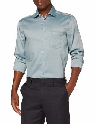 Seidensticker Men's Regular Langarm Struktur Dress Shirt