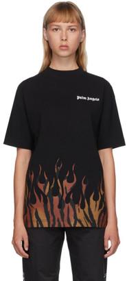 Palm Angels Black Tiger Flames T-Shirt