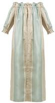 Marta Ferri - Silk-taffeta Dress And Cotton Trousers Set - Womens - Multi