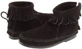 Minnetonka Kids Back Zipper Boot Hardsole (Toddler/Little Kid/Big Kid)