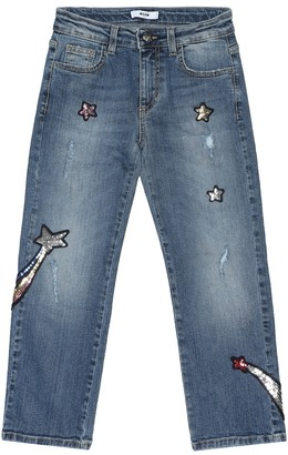 MSGM Kids Embellished straight jeans
