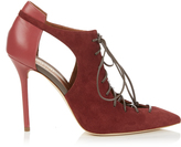 Malone Souliers Montana suede and leather pumps