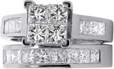 JCPenney FINE JEWELRY 2 CT. T.W. Diamond 14K White Gold Bridal Ring Set