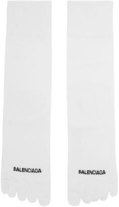 Balenciaga White Logo Toe Socks