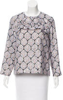 Suno Patterned Long Sleeve Top