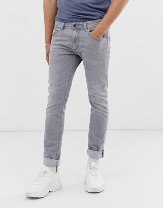 Diesel Thommer SP stretch slim fit jeans in 0890E ice grey-Blue
