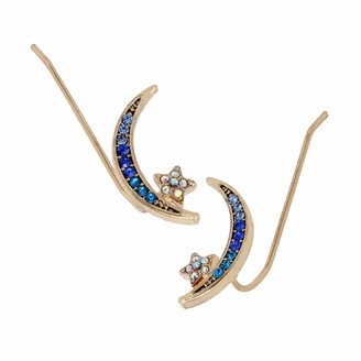 Betsey Johnson Celestial Moon Crawler Earrings