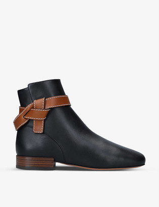 Loewe Gate 25 leather ankle boots