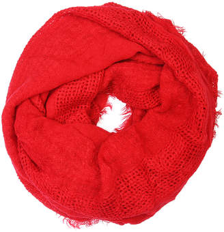 Riah Fashion Women's Cold Weather Scarves Red - Red Infinity Scarf - Women
