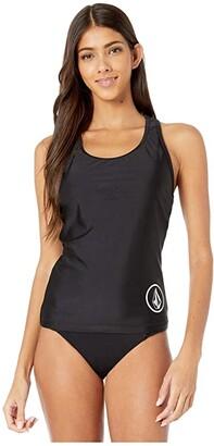 Volcom Simply Core Tankini (Black) Women's Swimwear