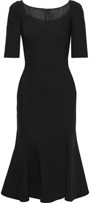 Dolce & Gabbana Fluted Wool-blend Cady Midi Dress