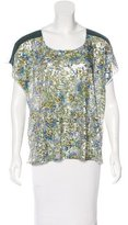Clover Canyon Sequin-Embellished Short Sleeve Top w/ Tags