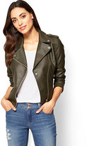 New York & Co. Faux Leather Moto Jacket
