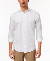 Tasso Elba Island Men's Linen Blend Floral Embroidered Shirt, Only at Macy's